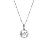 Ladies necklace in sterling silver with zirconia