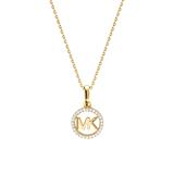 Ladies necklace made of gold-plated 925 silver with zirconia