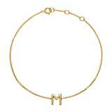 14ct. Gold Bracelet With 1 Letter Or Symbol