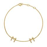 Bracelet In 14ct. Gold With 2 Letters Or Symbols
