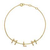 585er Goldarmband mit 3 Buchstaben oder Symbolen
