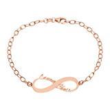 Namensarmband Infinity Silber roségold