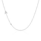 Halskette Buchstabe aus 14K Weißgold mit Diamanten