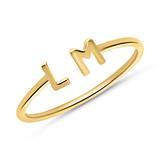 585er Goldring mit zwei wählbaren Buchstaben, Symbolen