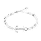 Anchor Spirit Marble Armband aus Edelstahl mit Perlen