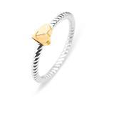 Ring Rope Anchor Love für Damen aus Edelstahl gold