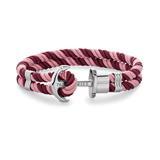 Phrep Armband aus Nylon Aurora Dark Berry mit Anker