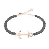 Anchor Spirit Armband für Damen, grau-rosé