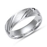 Moderner Silberring, eisgekratzt 925 Silber