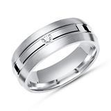 Moderner Ring 925 Silber mit Zirkonia 6mm