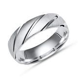 Exklusiver Ring 925 Silber mit Glanzrillen 6mm