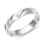 Exklusiver Ring 925 Silber mit Zirkonia 4mm