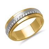 Vivo Damenring 925er Silber vergoldet Zirkonia