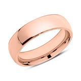 Rosévergoldeter Edelstahl Ring gravierbar