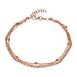 Silberarmband rosévergoldet mit Karabinerverschluss