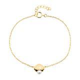 Armband Muschel aus vergoldetem 925er Silber mit Perle