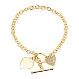 Armband Herzen 925er Silber gold Zirkonia gravierbar