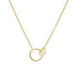 Vergoldete 925er Silberkette Kreise für Damen