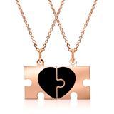 925 Silberkette rosévergoldet Partneranhänger