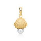 Anhänger Muschel mit Perle aus Sterlingsilber vergoldet
