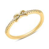Ring 925er Silber vergoldet Unendlichkeitssymbol