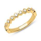 Ring 925er Silber vergoldet Zirkonia gravierbar