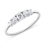 Zirkoniabesetzter Ring für Damen aus 925er Silber