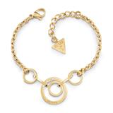 Armband Eternal Circles aus vergoldetem Edelstahl