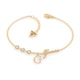 Armband G Lettering für Damen aus Edelstahl, vergoldet