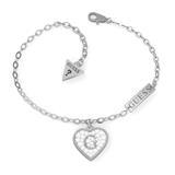 Herzarmband für Damen aus Edelstahl mit Kristallen