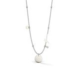Gravierbare Halskette Peony Art für Damen aus Edelstahl