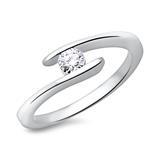 585 Weißgold Verlobungsring mit Diamant 0,25 ct.