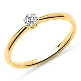 Verlobungsring aus 585er Gold mit Diamant, lab-grown