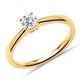 Solitärring 585er Gold mit lab-grown Diamant 0,25 ct.