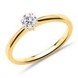 Solitärring aus 14K Gold mit lab-grown Diamant
