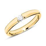 18K Gold Verlobungsring mit Diamant 0,10 ct.