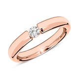 18ct Rose Gold Ring With Diamond 0,15 ct.