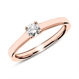 Ring aus 750er Roségold mit Diamant 0,25 ct.