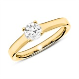 585er Goldring mit Diamant 0,50 ct.