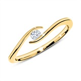 585er Goldring mit Diamant 0,10 ct.