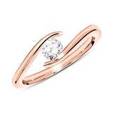 Verlobungsring aus 14K Roségold mit Diamant 0,25 ct.