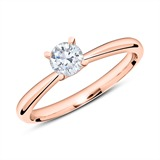 Ring aus 18K Roségold mit Diamant 0,50 ct.