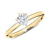 Ring aus 750er Gold mit Diamant 0,50 ct.