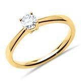 Ring aus 750er Gold mit Brillant 0,25 ct.