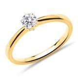 Ring aus 750er Gold mit lab-grown Diamant