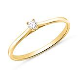 Verlobungsring aus 585er Gold mit Diamant