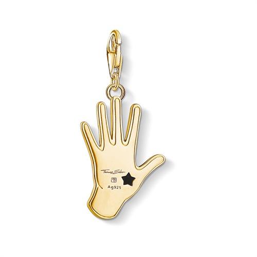 Charm Anhänger Vintage Hand aus 925er Silber vergoldet