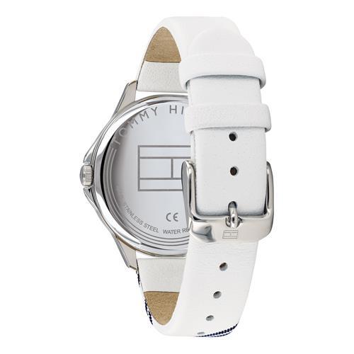 Uhr Sport für Damen mit weißem Lederband