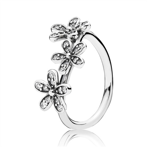 Ring Blüten Zirkonia Silber