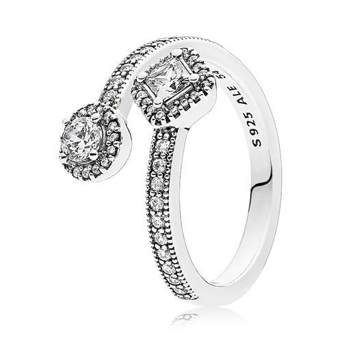 Damen Ring Sterlingsilber Zirkonia